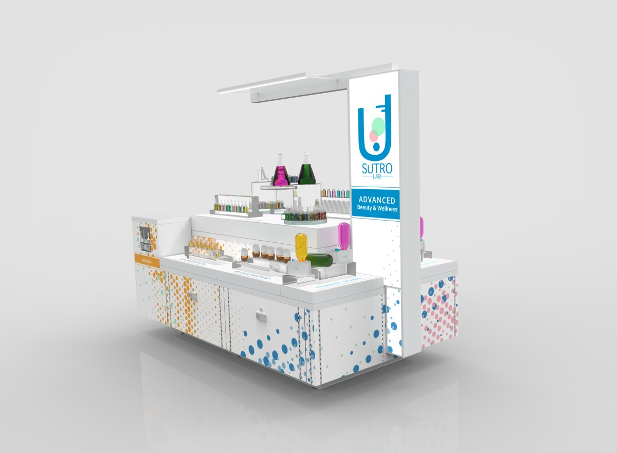 Graphic design for a mobile stand – Trogled